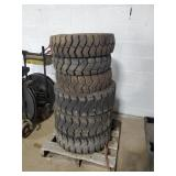 6 Fork Lift Tires - Various Sizes