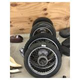 Lot of Motorcycle Rims & Tires