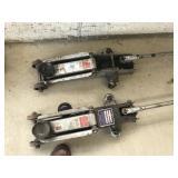 2 - 4000 lb. Hydraulic Floor Jacks