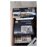 Box of Assorted Cameras