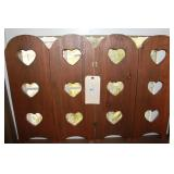 Three Heart Shaped Wooden Window Covers