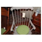 Grey Wooden Rocking Chair