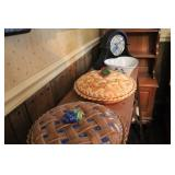 Two Pie Trays, Quartz Clock, Heart Pie Dish