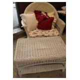 Wicker Bench And Chair