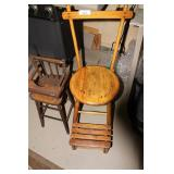 Antique Stool And High Chair