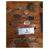 8 Vintage Eye Glasses