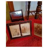 Wooden Elephant, Old Photos & Wooden Dresser Box