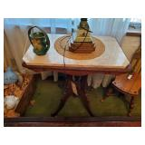 Lamp Stand W/ Marble Top