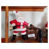 2 Ceramic Santas