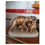Brass Elephant Mom & Baby