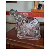 2 Glass Elephants