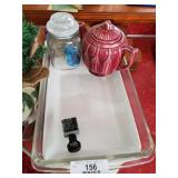 Baking Pans, Tea Pot & Misc