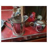 Cream & Sugar, Cups, Coffee Pots& Cutting Board