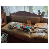 Leather Sofa, Contents On Sofa & Contents On Windo