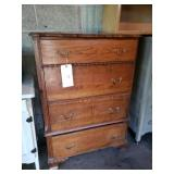 "4 Drawer Oak Dresser, Approx. 19""x 33""x 46"""