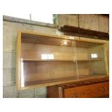 """Blonde Display Case, Approx. 13""""x52""""x22"""""""