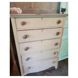 """5 Drawer Panel Sided Wood Dresser, Approx. 18""""x33"""""""