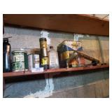 Assorted Lot Of Oils, Oil Cans, Sprayer & Misc.