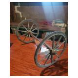 """Wooden Spoked Wagon Axel, 14"""" Tall"""