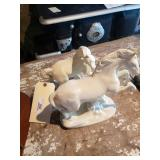 2 Porcelain Ceramic Horses