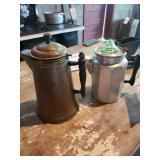 Antique Majestic Coffee Pot & Antique Coffee Pot