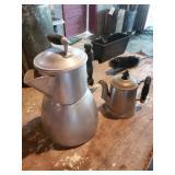 Aluminum Coffee Pot & Small Coffee Pot