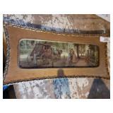 Antique Wooden Framed Picture