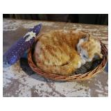Battery Operated Cat & Basket