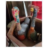 2 Turkey Bottles - Tray - Ventriloquist Doll - Gla