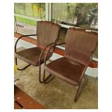 2 Metal Chairs