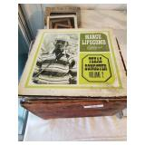 Wooden Crate Of Albums