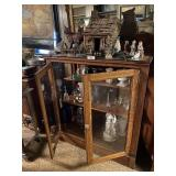 Display Case W/contents, Vases, & Knick Knacks