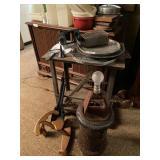 Antique Heater, Coal Shovels, Light & Assorted Coo