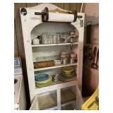 Shelf & Contents- Misc. Kitchenware, Dishes