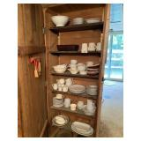 Contents Of Shelf - Assorted Dishes & Glassware