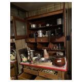 Desk & Contents -  Assorted Pots & Pans