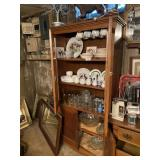 Shelf & Contents -  Assorted Glassware & Dishes