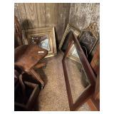 4 Mirrors, Chair, Shelf, Heater & Misc.