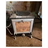 Gass Heater, Little Electric Stove & Laundry Baske