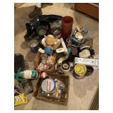Cooker, Jar Lids, Cans, Blender & Misc.
