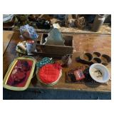 Wooden Crates, Trays, Misc
