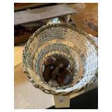 Basket, Wooden & Porcelain Lids