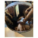 Basket Of Assorted Furrs