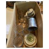 Box Of Cups, Bowls, Assorted Vases