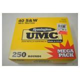250 Rnd Umc Remington Mega Pack 40 S & W 180gr