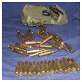 39 Rounds 7.2x51  308 Ball Ammo & Clip Case