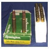 13 Rounds Remington 30 Remington & Brass