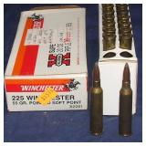 20 Rounds 225 Winchester  Loads