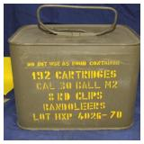 192 Round Can 30 Cal M2 Ball & Clips