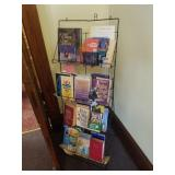 wire book rack and religious literature